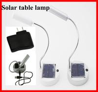 Wholesale 5pcs foldable Table Lamp Solar USB Power LED Electroplax White Chinabestmall