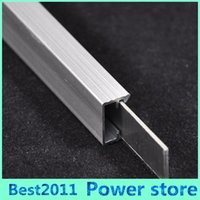 aluminum u profile - 1m m Rigid LED Strip Light Fixture U Channel Slot Light Bar Aluminum Profile Silver Color for