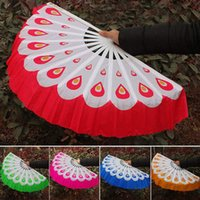 chinese dance fans - R H Chinese Peacock Dance Fans Ladies Square Dance Fan Younger Fan Chinese Arts and Crafts drop shipping
