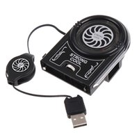 Wholesale Mini Flexible Vacuum Air Extracting USB Cooler Cooling Fan for Notebook Laptop Accessories Computer Peripheral Free Drop Ship order lt no tr