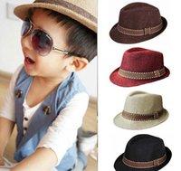 trimmings - New Fashion Kids Boy Girl Unisex Fedora Hats Cap for Children Contrast Trim Cool Jazz Chapeu Feminino Trilby Sombreros LMZ0236