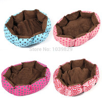Wholesale Lovely Winter Dog Bed Warm And Soft Simple Design Bowl Pet House Bed Dog Pad Kennel For Small Medium Cats Puppy
