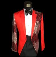 Wholesale Sequins Suits Pallet Paillette Blazer DJ Show Fashion Stage Wear Performance Party Prom Dresses Trendy Stage Clothing Set DH