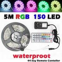 Wholesale 5M leds Waterproof LEDS Flexible RGB led strip Light Keys IR Remote only for RGB dandys