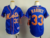 jerseys for kids - Kids New york mets baseball jerseys Matt Harvey jersey for youth New york mets Harvey jersey size S XXL mixed order
