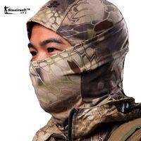 Wholesale Sinairsoft Rattlesnake Balaclava Tactical Airsoft Helmet Hunting Wargame Breathing Face Mask Motorcycle Skiing Cycling Full Hood A3