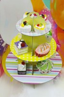 Wholesale 2 X NEW TIER CARDBOARD PAPER DISPLAY CUPCAKE CAKE STAND HOLDER STAND TOWER WEDDING BIRTHDAY EVENT PARTY