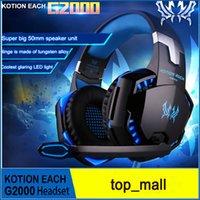 Professional Gaming Headset KOTION CHAQUE G2000 Over Ear bandeau avec Mic stéréo bonne basse LED pour PC Jeu 010007
