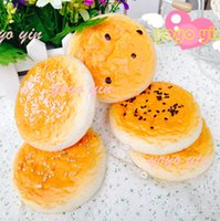 baking charm - 25pcs New Baked Wheat Cake Squishy Cell Phone Charms Key Chain Wholesales