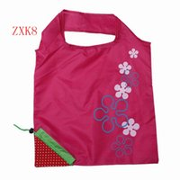 Wholesale Cute Strawberry Folding Reusable Shopping Bags Portable Home Storage Bag ZXK8