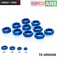Wholesale Tansky turbo fitting AN AN8 AN adapter bulkhead nut Aluminum Finish Nut Seal Lock Fitting Adapter TK MMAN8