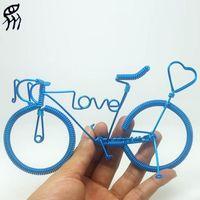 aluminium bikes for kids - Present For Girlfriend Love Bike Manual Bicycle Model Home Creative Furnishing Articles Aluminium Wire Weave Words Love Hearts