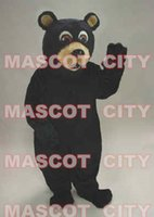 big black bear plush - Big Black Bear Plush Mascot Costume Adult Size Good Quality Bear Mascotte Mascota Outfit Suit Party Fancy Dress SW499