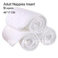 Wholesale 10pcs Layers Thickened Adult Cloth Diaper Insert or Adult Nappy Nappies Insert ADI