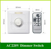 Wholesale LED Dimmable Light Infrared Remote Control SCR Dimmers Panel PWMDimming Switch AC V V