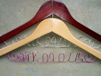Wholesale 2 personalized any name of the bride and groom the bride wedding dress hanger manual hanger bridesmaid hangers engagement gift