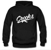 Wholesale 2016 new fashion autumn mens CROOKS Castles hoodies casual sportswear mens hoody sweatshirt Hip Hop hoodies coat