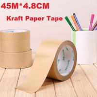 adhesive tape products - 45M CM Vintage Blank Kraft Paper Adhesive Tape package tape DIY Multifunction seal sticker for handmade product dandys