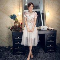 Wholesale 2 Set Summer Women and Big Girl Chiffon Sets Women Sleeveless T shirt Skirt Fashion Korean Style Outfits B