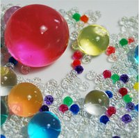 Wholesale 100bag Pearl shaped Crystal Soil Water Beads Mud Grow Magic Jelly balls wedding Home Decor