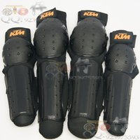 Wholesale 4pcs Set Universal KTM ATV Motocross Motorcycle Offroad Accessories racing Rider Protective Gears Knee Elbow Guards Pads order lt no t