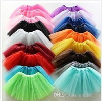 layer cake - 2015 girl candy color kids ballet skirt layers ball gown Cake skirts tutu pettiskirt Net yarn sequins dancing top skirts BBB3101