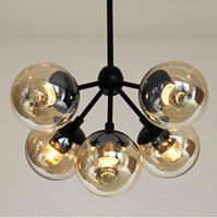 Wholesale 3 Globes Nordic Iron Art Pendant Light American Country Vintage Pendant Lamp Contracted and Contemporary Bedroom Droplight