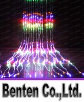 Wholesale Led Waterfall String Curtain Light m m Leds Water Flow Christmas Wedding Party Holiday Decoration Fairy String Lights LLFA3312F