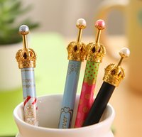 Wholesale Creative stationery fashion Metal Crown Fountain gel Pen office school student supplies