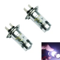 Wholesale Hot Salw Best seller H7 K W LED SMD Cree Projector Fog Driving DRL Light Bulbs HID White