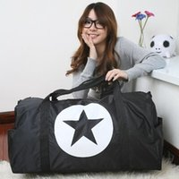 Wholesale Big size new Waterproof large capacity luggage five pointed star travel bag women travel bags handbag sport bag duffle bag clutch