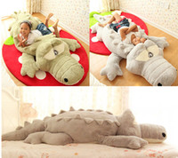 big reptiles - GIANT BIG PLUSH CROCODILE STUFFED ANIMAL PLUSH SOFT TOY CUSHION PILLOW CUTE GIFT