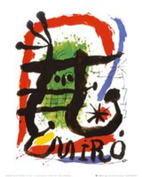 alcohol animals - Joan Miro s oil painting for bar Alcohol de Menthe hand painted high quality
