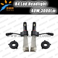 auto xml - 2015 New Arrival LM W H4 Hb2 Car Led Headlights Auto Led Lamps C REE XML Chips Automotive Headlight High Power