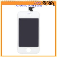 cell parts - Replacement repair parts For Iphone Iphone G S Cell phone Lcd display touch screen Digitizer full assembly White Black