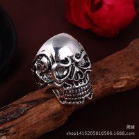 halloween skeleton - Sons of Anarchy Ring Grim Reaper Ring Stainless Steel Jewelry Skull Motor Biker Ring size