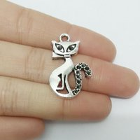 antique rope making - cartoon pussy cat Antique tibetan silver charms necklace bracelet pendants spacer jewelry making leather cords rope findings connector kit