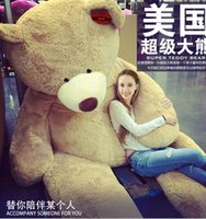 """Cheap 260cm 102"""" HUGE BIG STUFFED ANIMAL TEDDY BEAR COVER PLUSH SOFT TOY PILLOW COVER(WITHOUT STUFF)"""