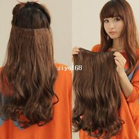 Wholesale New Fashion Women and Girls Clip in Hair Extensions Long Curly Hair Extension