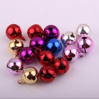 Metal beading tips necklace - 16MM quolity sound brass bells in colours plating beading accessories for necklace bracelets fishing rod tip bells pet dog bells