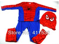 Wholesale Children Boys Kids Batman Spiderman Costumes Halloween Cosplay Clothes