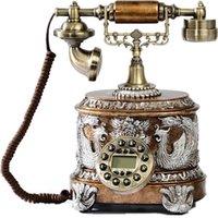 Wholesale Novelty New Arrival Fashion Elegant Peony Antique Telephone