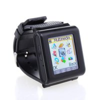 Wholesale Ultrathin inch HD LCD Touch Screen Unlocked AK812 Watch Mobile Phone Google Play Store With MP3 MP4 Bluetooth SOS Russian