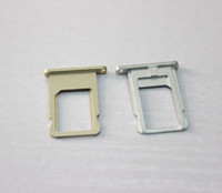 Wholesale NANO sim card steel tray for iphone6 iphone inch Replacement parts colors