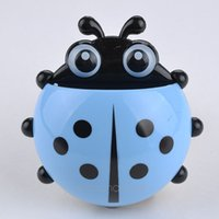 Wholesale 1 Piece New Nolvelty Ladybug Automatic Toothbrush Holder Toothpaste Bracket Container for Bathroom XJJ0151 S1