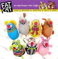 Wholesale Brand New High quality Fat Cat canvas mouse Multicolor cat amused mint toys pet cartoon plush toys cm