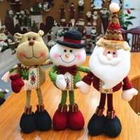 snowman decoration - 2015 new year Christmas Decoration Supplies Lovely Santa Claus Snowman Reindeer Long legs Figurine Ornament Enfeites