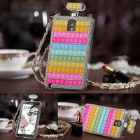 Cheap Galaxy Note 3 Phone Cases Luxury Bling Diamond & Hard TPU Perfume Bottle Lady Handbag For Samsung Galaxy Note 3 Case N9000