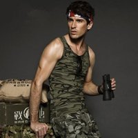 Wholesale 2015 spring and summer men s outdoor military fans commando camouflage uniforms and equipment bottoming shirt Men s casual vest