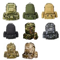 Wholesale Camouflage Sport Bag Outdoor Mountaineering Backpack Tactical Military Enthusiasts Bags Waterproof Camping Colors Combinations Bag